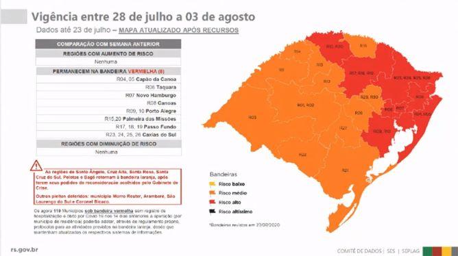 Em situação preocupante, região de Caxias do Sul se mantém na bandeira vermelha