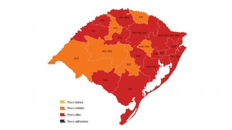 Região de Caxias do Sul segue na bandeira vermelha pela terceira semana consecutiva