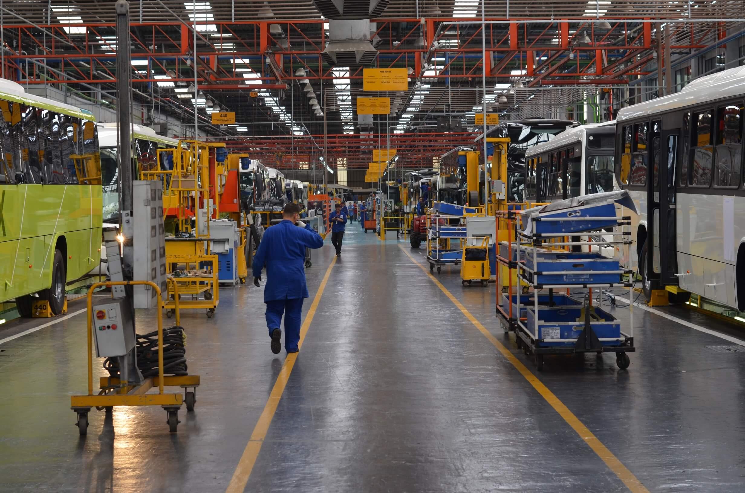 A despeito da pandemia, Marcopolo mantém liderança na produção brasileira de ônibus